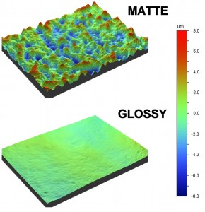 Surface Profile Analysis of Photo Paper