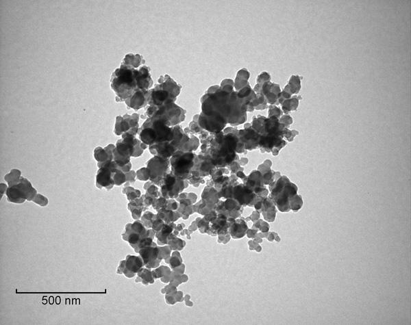 Carbon black TEM image