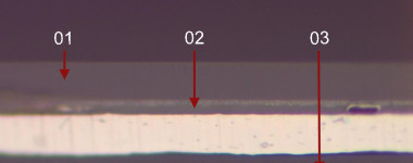 cross section layers-1-2-3