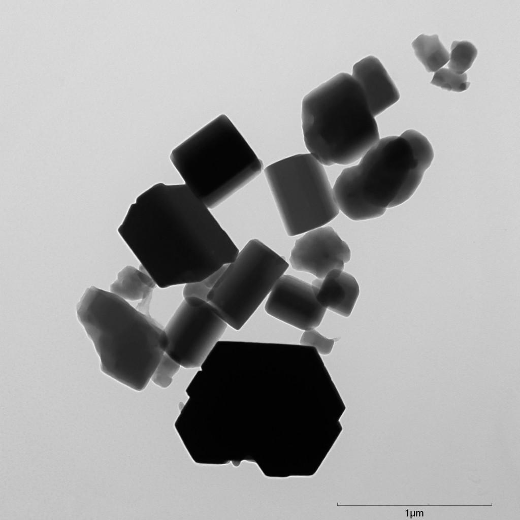TEM image of C60 nanoparticles