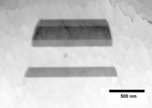 tem analysis of an embedded laser diode