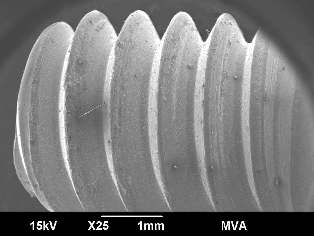 SEM Imaging of  Screw Threads